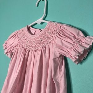 Petit Bebe smocked 6month romper pink LIKE NEW